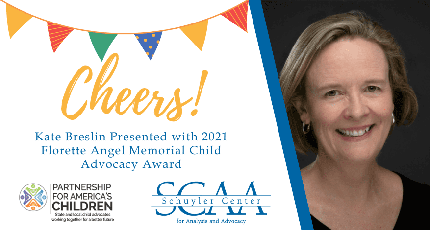 Cheers: Kate Breslin Presented with 2021 Florette Angel Memorial Child Advocacy Award